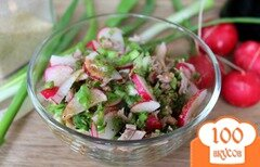 Фото рецепта: «Салат с редисом и говядиной»