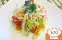 Фото рецепта: «Салат с горчично-медовой заправкой»