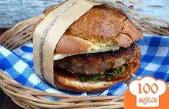 Фото рецепта: «Домашний бургер с котлетой из индейки»
