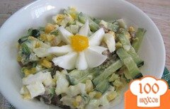 Фото рецепта: «Салат из говядины с кукурузой и яйцом»