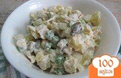 Фото рецепта: «Салат с каперсами куриным мясом и яйцом»
