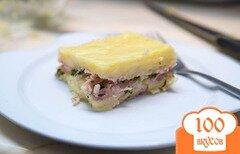 Фото рецепта: «Картофельная запеканка с ветчиной»