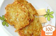 Фото рецепта: «Драники с твердым сыром»