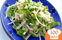 Фото рецепта: «Салат из сельдерея корневого, редиса и огурца»