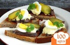 Фото рецепта: «Горячие бутерброды с отварным сердцем»