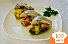 Фото рецепта: «Суши с селедкой»
