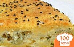 Фото рецепта: «Капустный пирог с кефирной заливкой»
