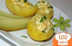 Фото рецепта: «Картофель фаршированный яйцами с сыром»