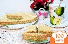 Фото рецепта: «Андруты (вафельный тортик)»