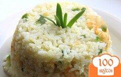 Фото рецепта: «Рис с чесноком и яйцами по-японски»