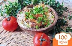Фото рецепта: «Картофельная запеканка с луком - пореем»