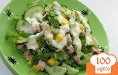 Фото рецепта: «Салат из пекинской капусты со свиным балыком»