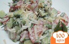 Фото рецепта: «Салат с крапивой и овощами»