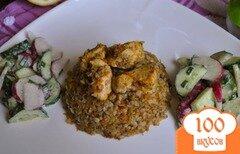 Фото рецепта: «Гречка запеченная с курицей в мультиварке»