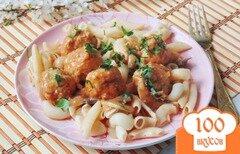 Фото рецепта: «Тефтели в томатно-грибном соусе»