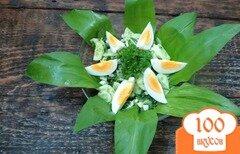 Фото рецепта: «Салат из черемши с огурцом»