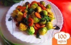Фото рецепта: «Тушеная брюссельская капуста со шпинатом»