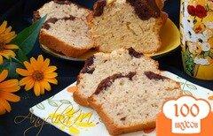 Фото рецепта: «Двухцветный ореховый кекс»