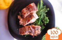 Фото рецепта: «Рыба запеченная в сливочном соусе со шпинатом»