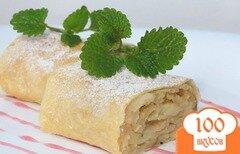 Фото рецепта: «Яблочный пирог с лавашом»