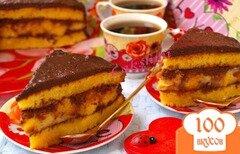 Фото рецепта: «Тыквенный торт с заварным кремом»