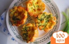 Фото рецепта: «Блинные булочки с моцареллой и черемшой»