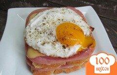 Фото рецепта: «Сэндвич крок-мадам»