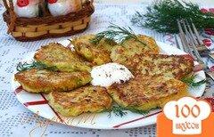Фото рецепта: «Оладьи с кабачком и творогом»