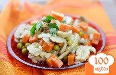 Фото рецепта: «Салат с консервированным горошком»