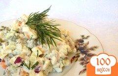 Фото рецепта: «Оливье по-старорусски с говядиной»