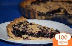 Фото рецепта: «Рассыпчатый черничный пирог (постный)»