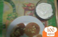 Фото рецепта: «Оладьи на кефире с яблочным джемом с корицей»