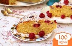 Фото рецепта: «Пирог с малиной на сметане»