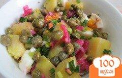 Фото рецепта: «Картофельный салат с яйцом и каперсами»