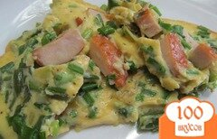 Фото рецепта: «Тортилья с копченной курицей и спаржевой фасолью»