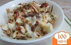 Фото рецепта: «Салат из курицы с жаренным луком»