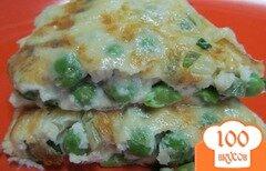 Фото рецепта: «Омлет с горохом и сыром»