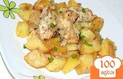 Фото рецепта: «Картофель в рукаве с маринованным куриным филе»