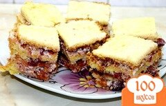 Фото рецепта: «Бисквитное пирожное с вишнями и сгущенным молоком»