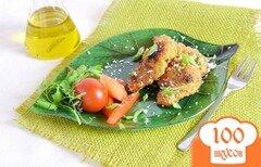 Фото рецепта: «Мясо в желтках и кокосовой стружке»