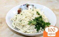 Фото рецепта: «Спагетти с сметанным соусом и пармезаном»