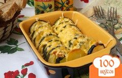 Фото рецепта: «Запечённые кабачки с картофелем»