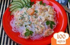 Фото рецепта: «Креветки в сливочном соусе»