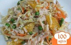 Фото рецепта: «Салат из риса с овощами и апельсином»
