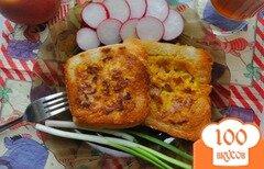 Фото рецепта: «Гренки с начинкой на завтрак»