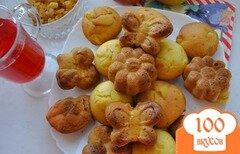 Фото рецепта: «Кексы с яблоком и изюмом»