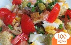 Фото рецепта: «Салат из семги с сухариками»