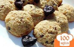 Фото рецепта: «Овсяное печенье с черносливом и курагой»
