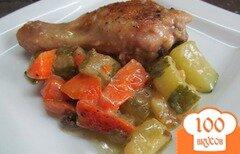 Фото рецепта: «Куриные ножки с интересным гарниром»