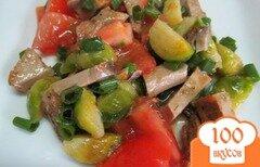 Фото рецепта: «Салат из буженины с брюссельской капустой»